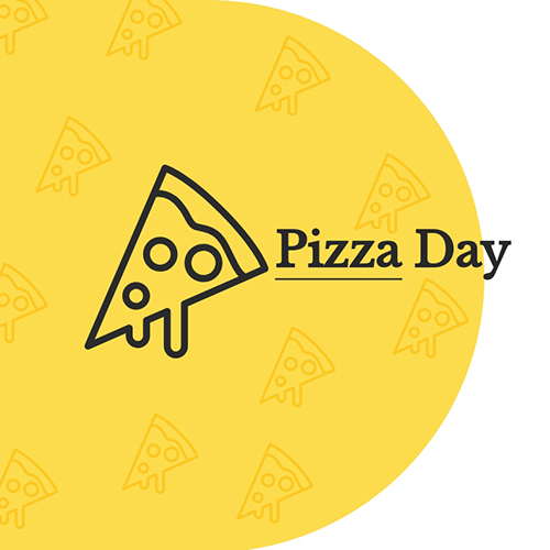 Pizza Day Blog Graphic Medium Template