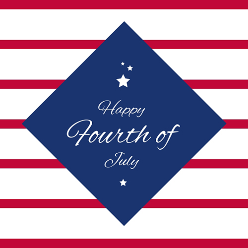 Happy Fourth of July Blog Graphic Medium Template