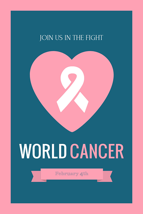 Pink Ribbon Breast Cancer Awareness Blog Graphic Large Template