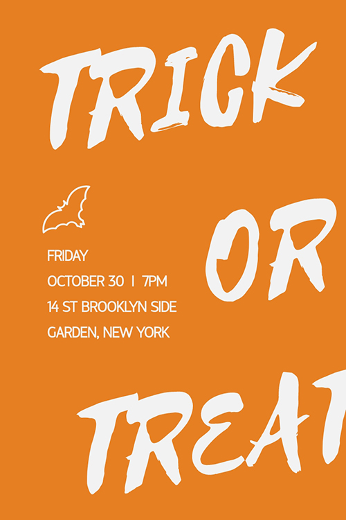 Trick or Treat Blog Graphic Large Template