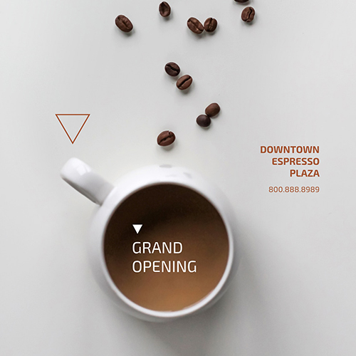 Coffee Grand Opening Template