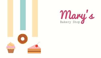 Bakery Shop - Business Card Template