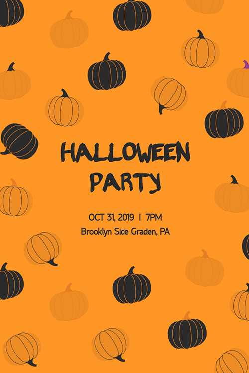 Halloween Party Blog Graphic Large Template