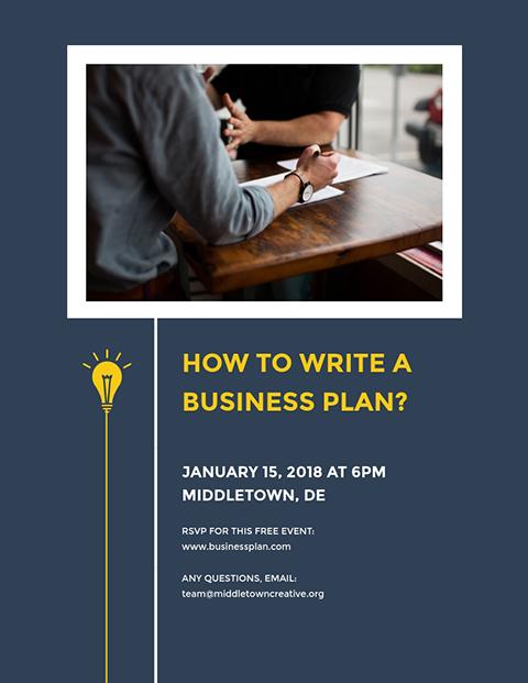 Business Plan - Flyer Template