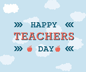 Happy Teachers Day Facebook Post Template - Visme