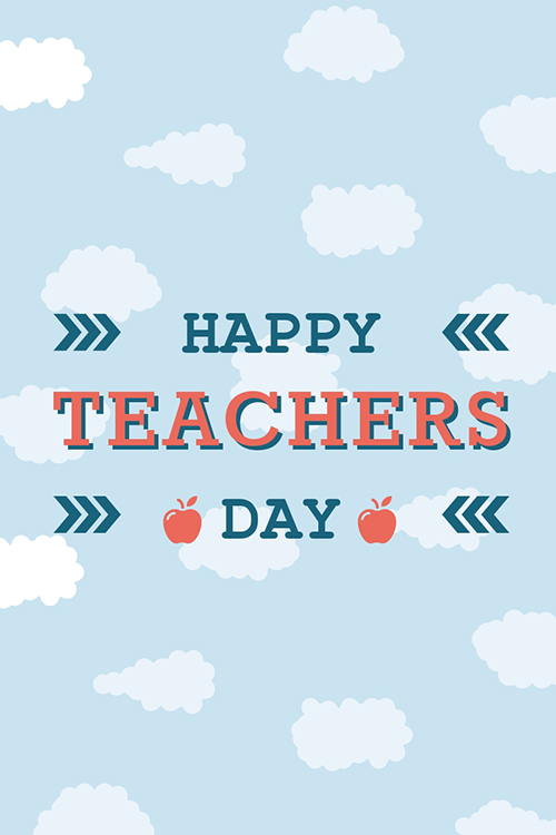 Happy Teachers Day Blog Graphic Large Template