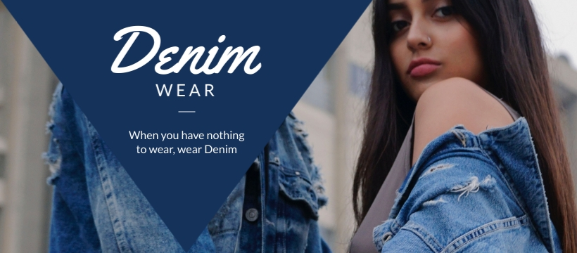 Denim Wear - Facebook Page Cover Template