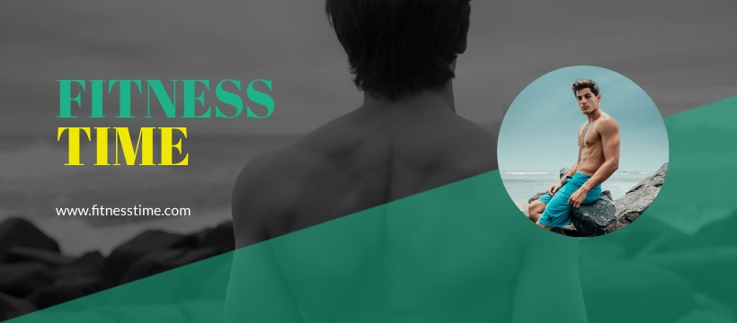 Fitness Beach - Facebook Page Cover Template
