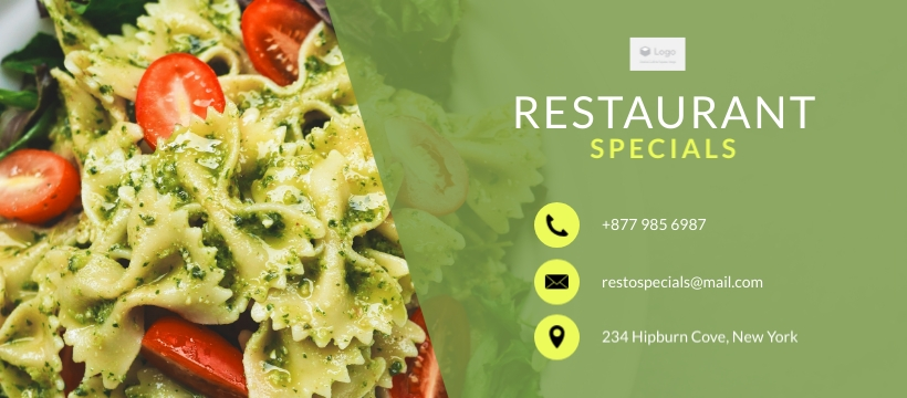 Restaurant Specials Facebook Page Template