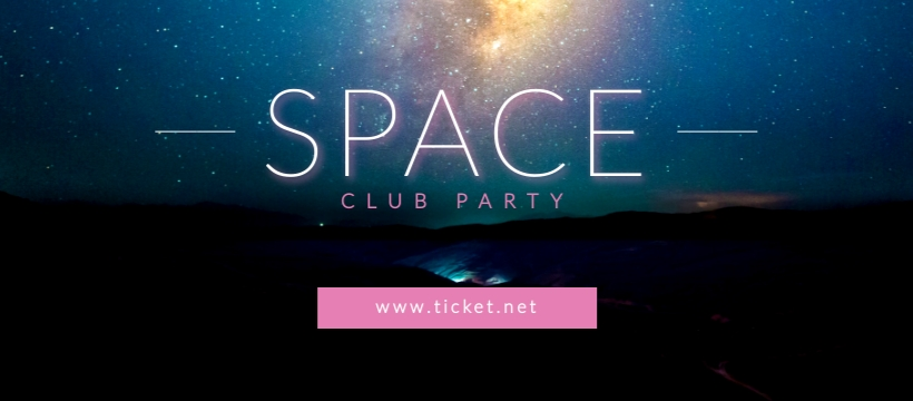 Space Club Party - Facebook Page Cover Template