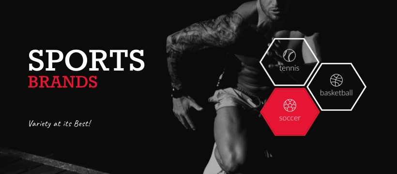 Sports Brands Facebook Page Template Visme