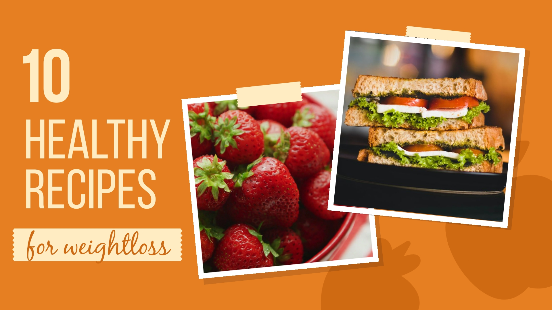 10 Healthy Recipes Intro - Video Template