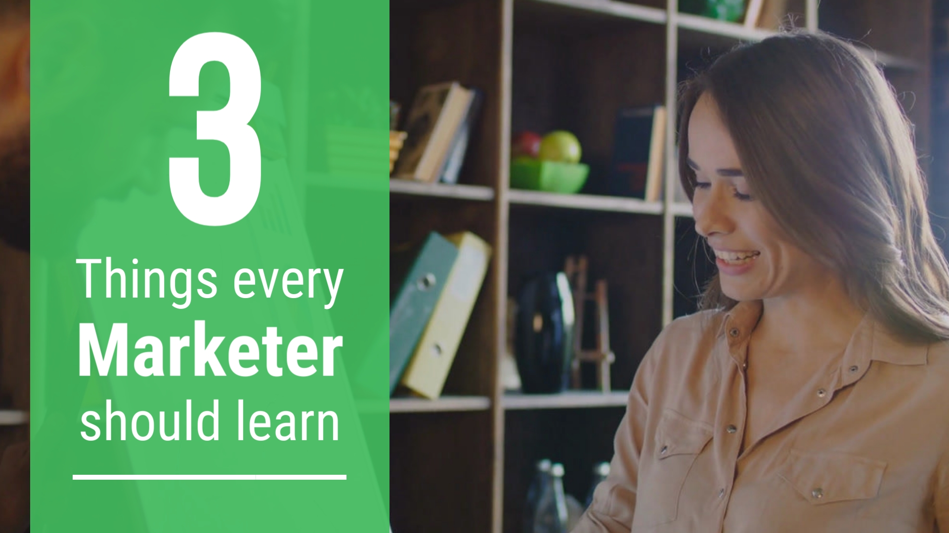 3 Things Every Marketer Should Learn - Listicle Video Template