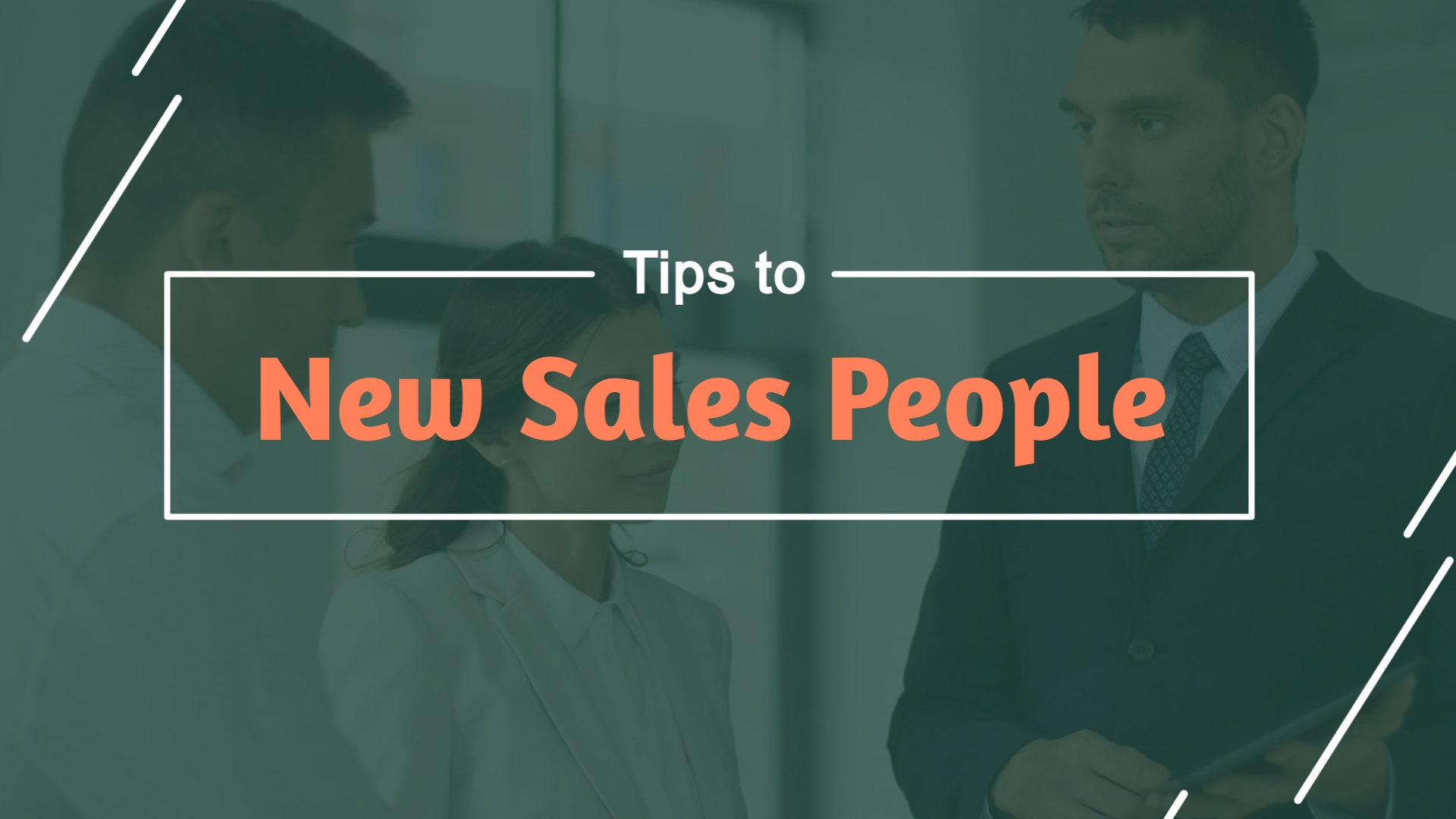 3 Tips for New Salespeople - Listicle Video Template