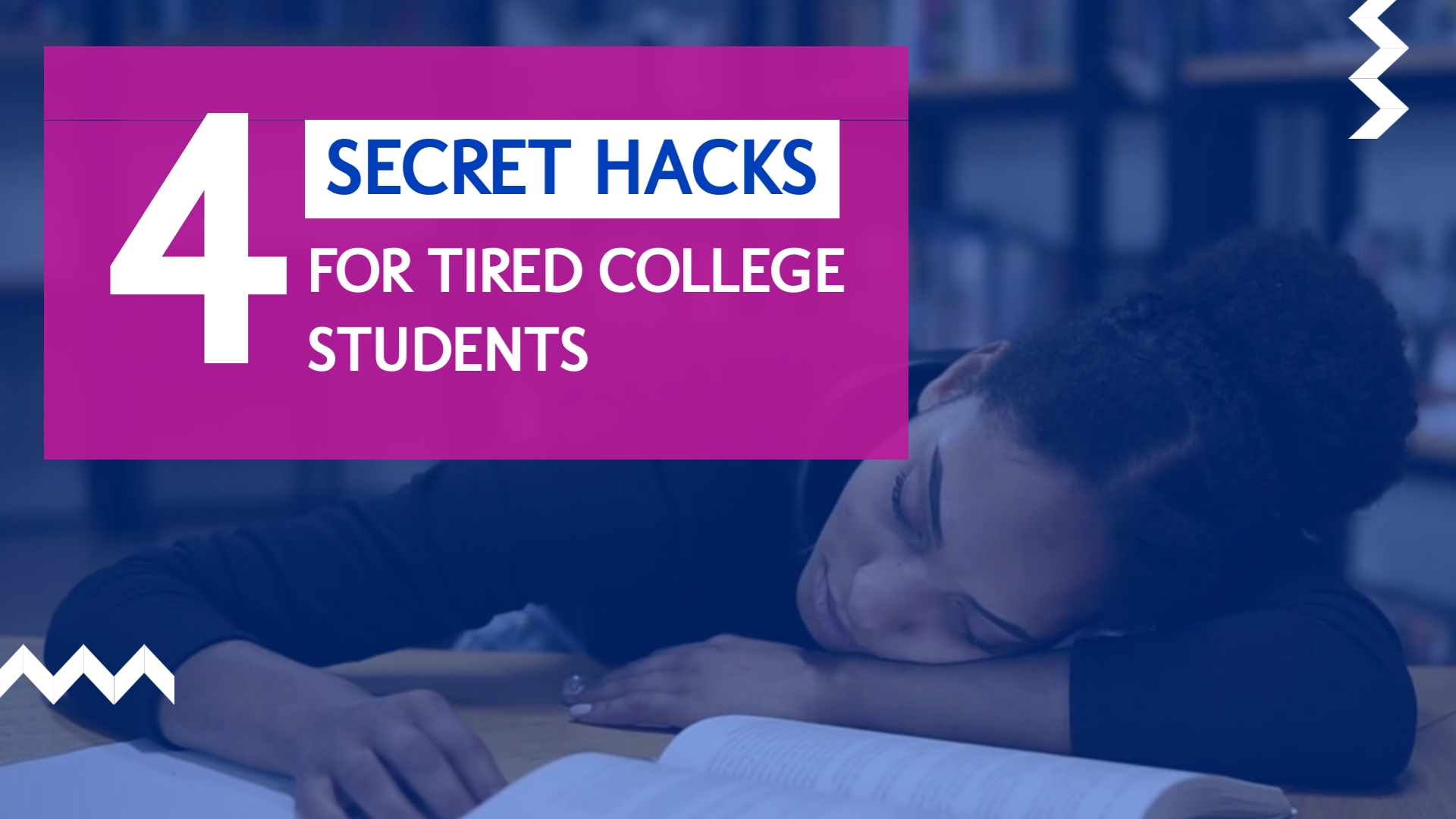 4 Secret Study Hacks - Listicle Video Template