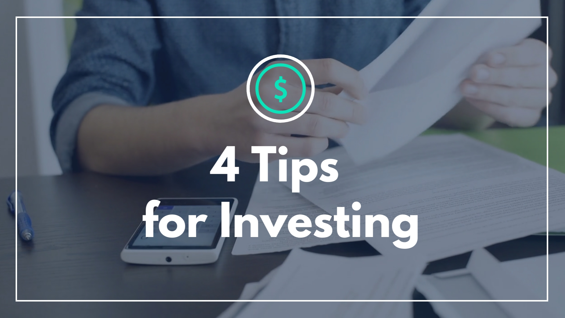 4 Tips for Investing - Listicle Video Template