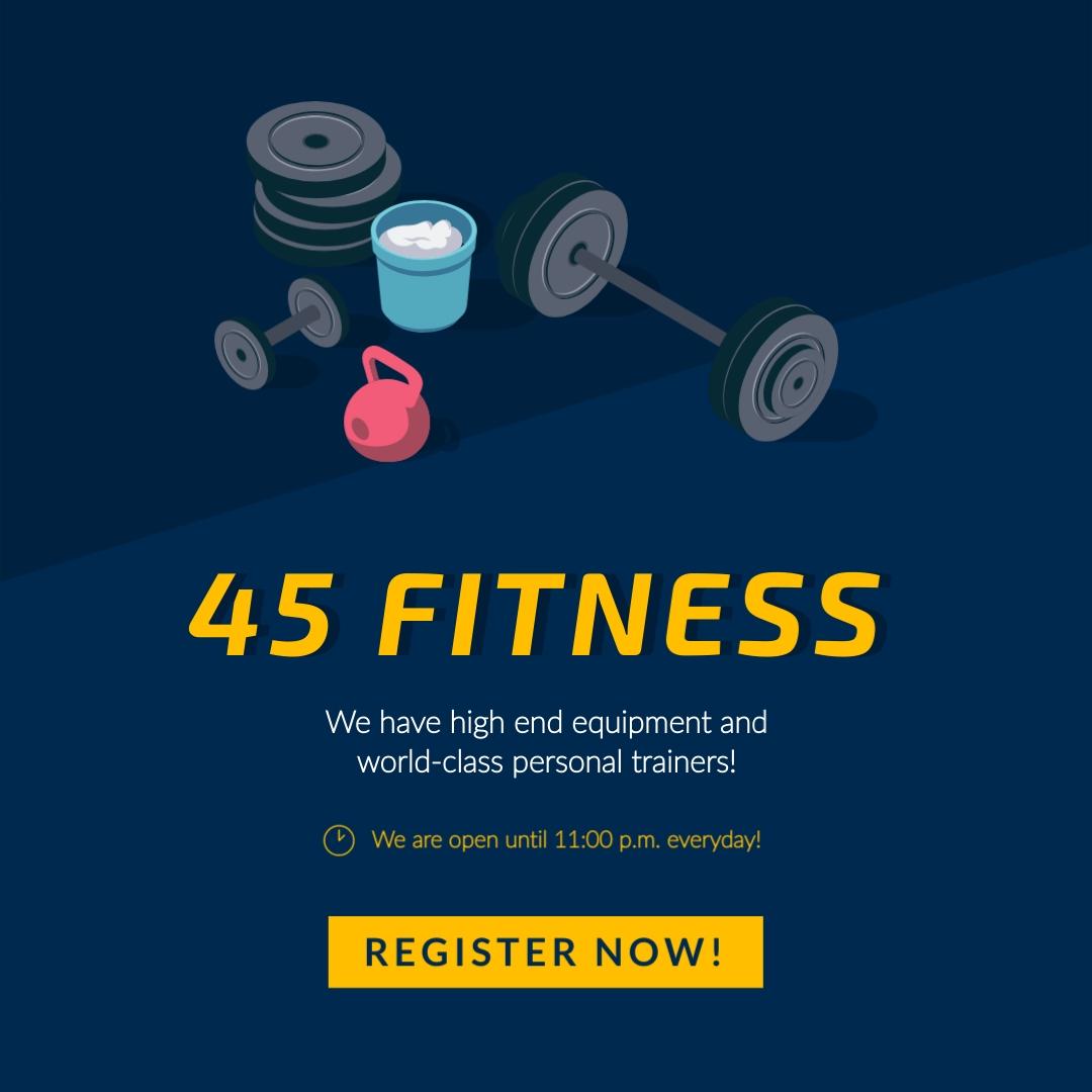 45 Fitness - Instagram Post Template