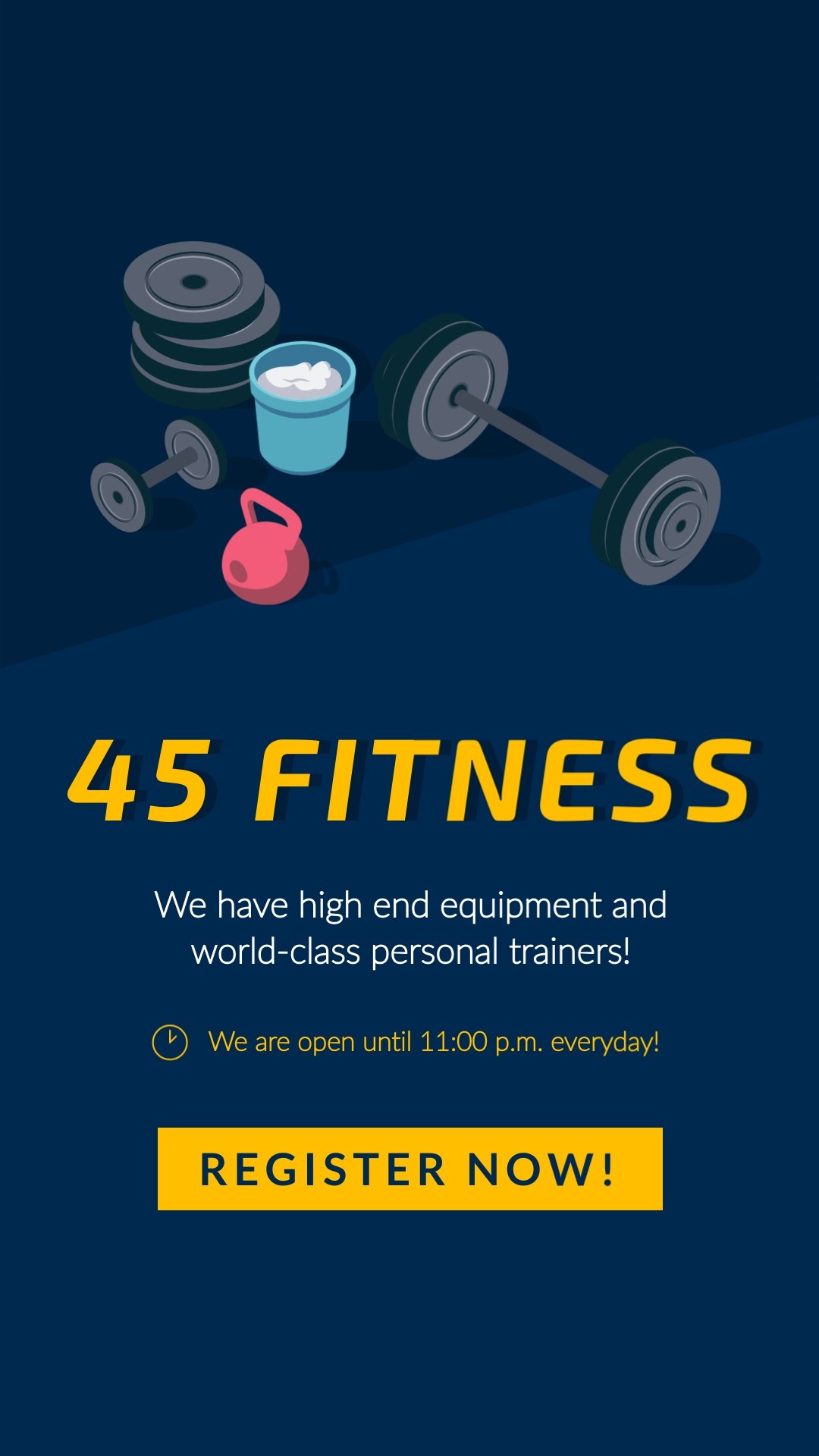 45 Fitness Vertical Template