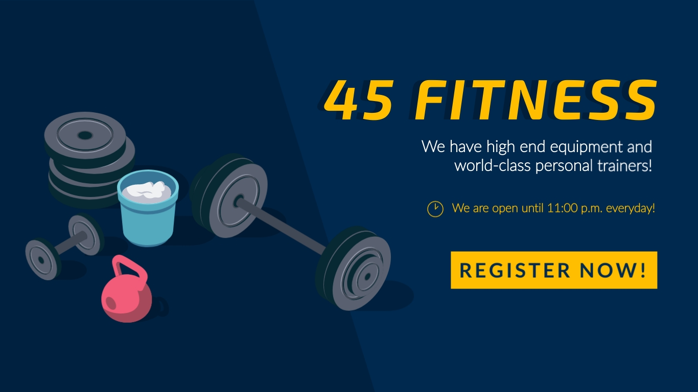 45 Fitness - Facebook Ad Template