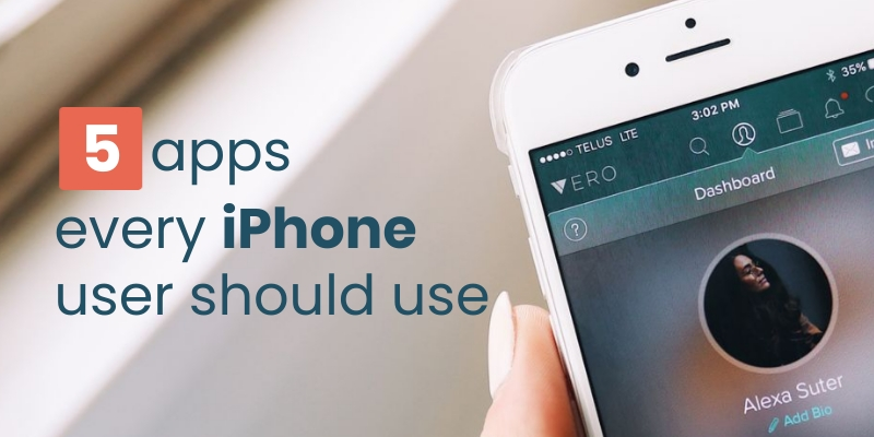 5 Apps Every iPhone User Should Use Blog Graphic Header Template