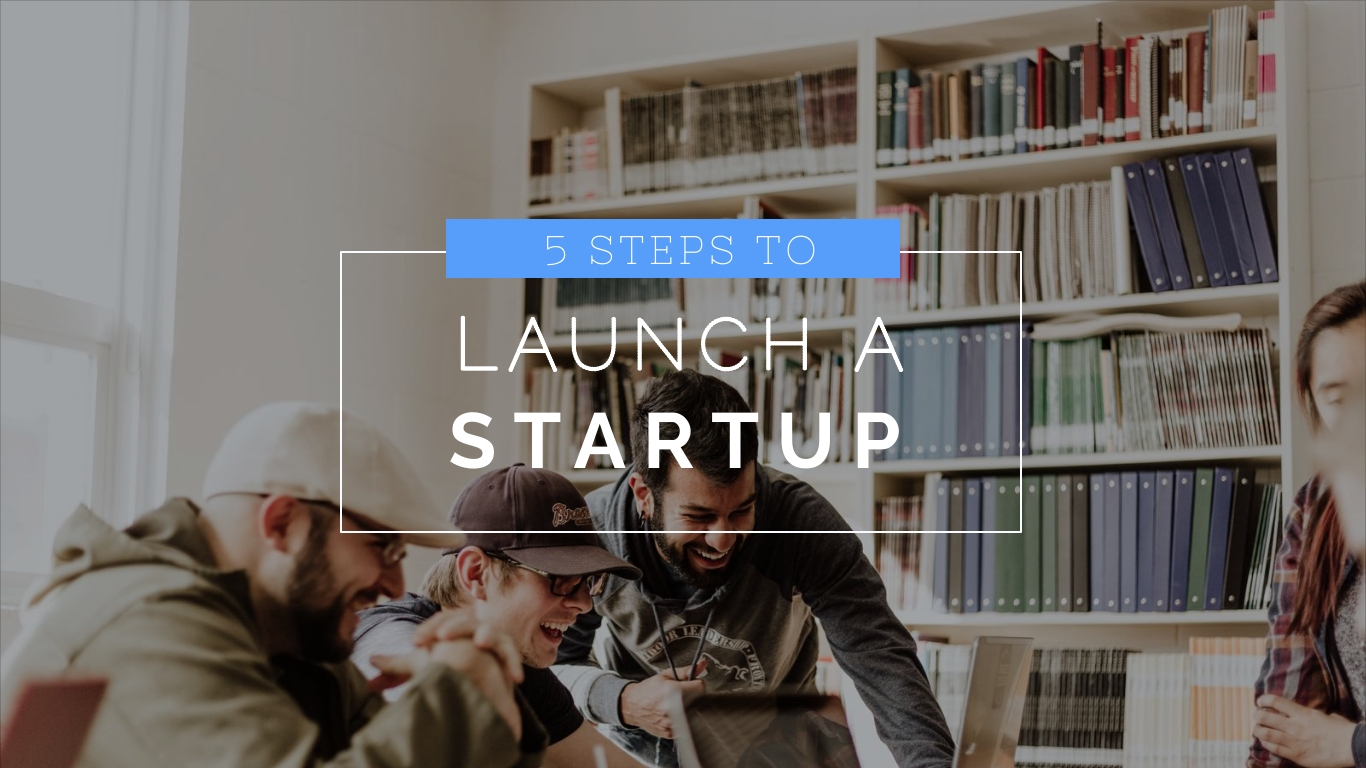 5 Steps To Launch a Startup - Video Template