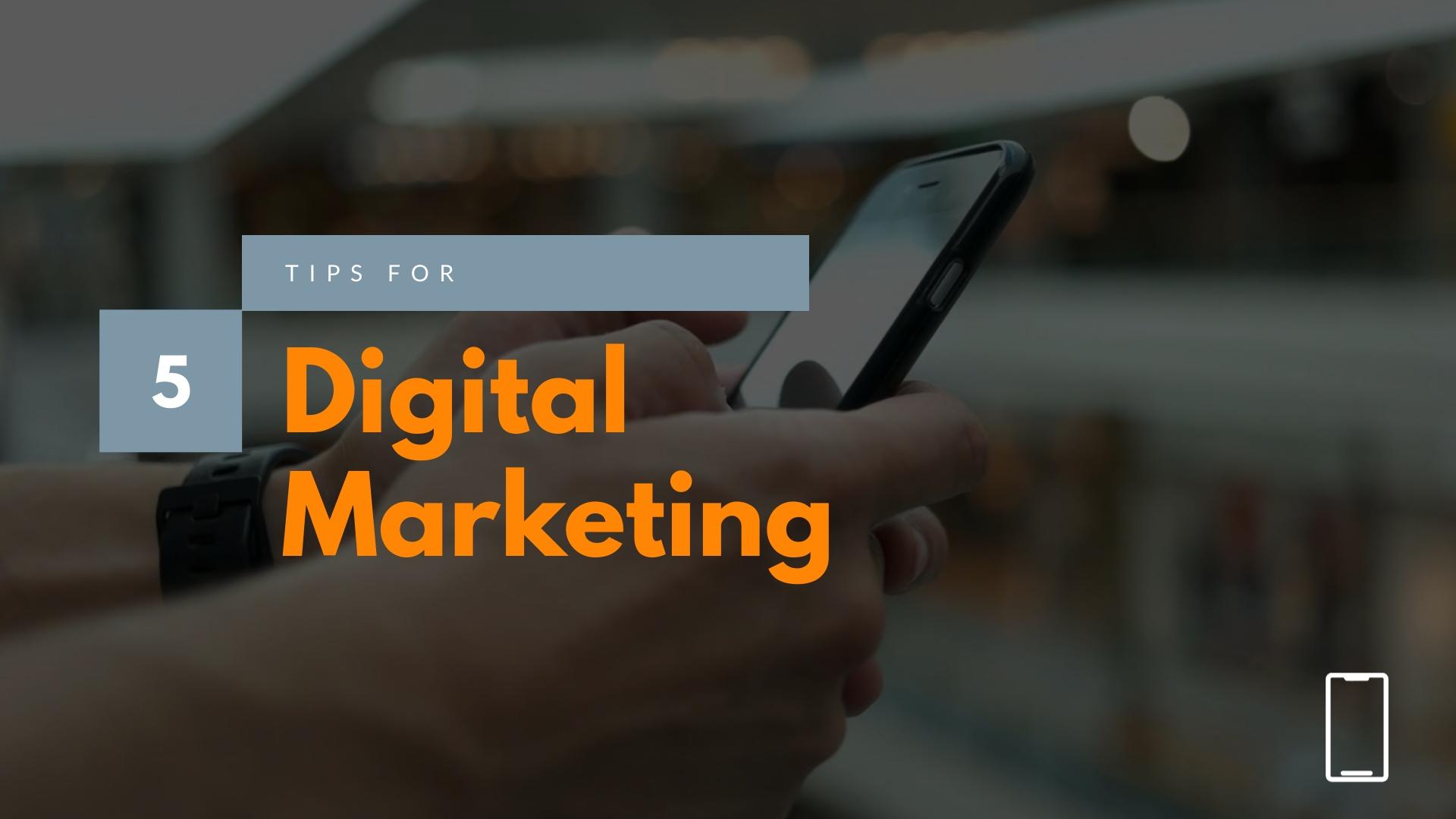 5 Tips for Digital Marketing - Explainer Video Template