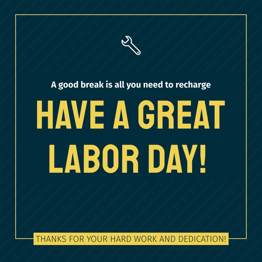 A Great Labor Day Animated Square Template