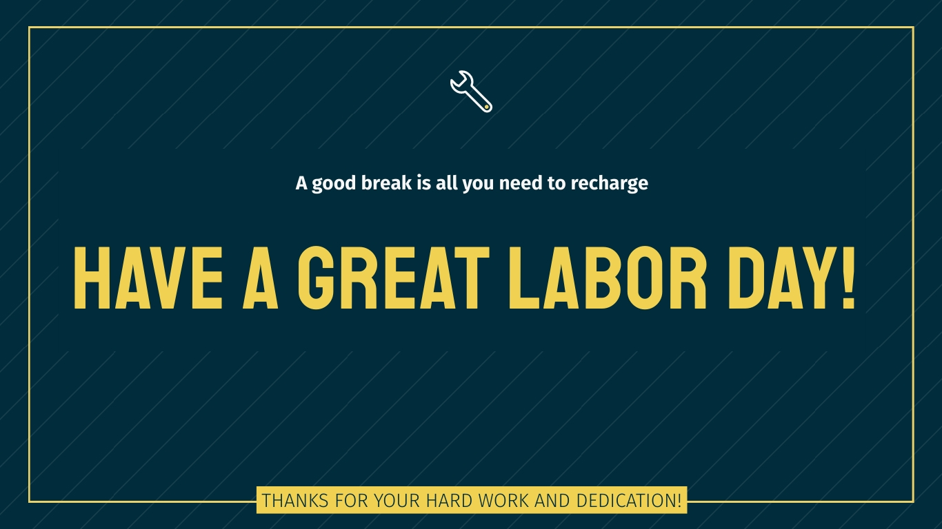 A Great Labor Day Animated Wide Template