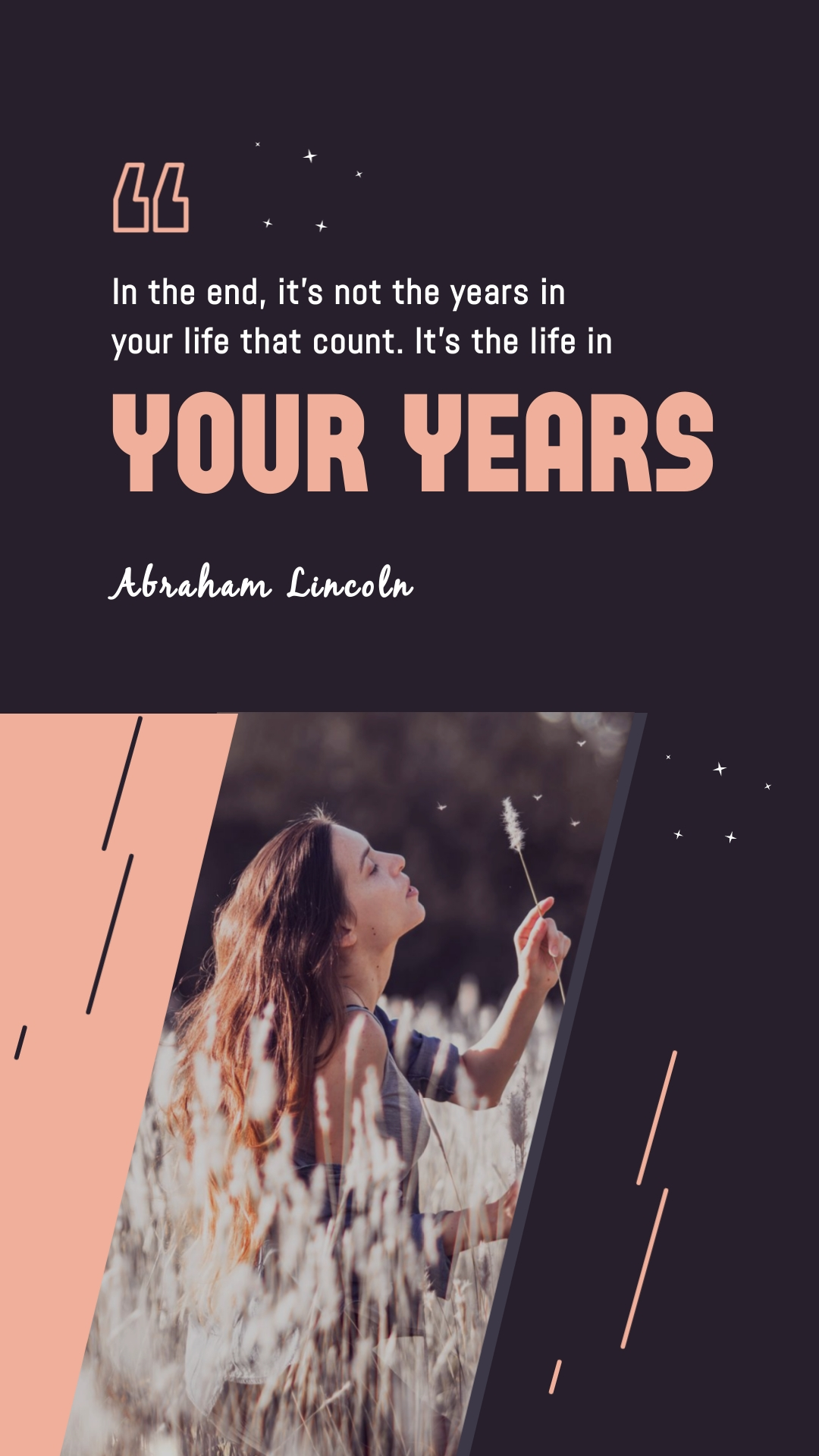 Abraham LIncoln Animated Quote Vertical Template