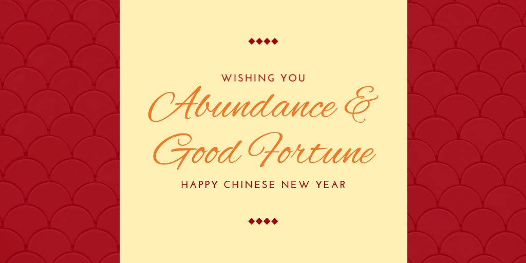 Abundance and Good Fortune Twitter Post  Template