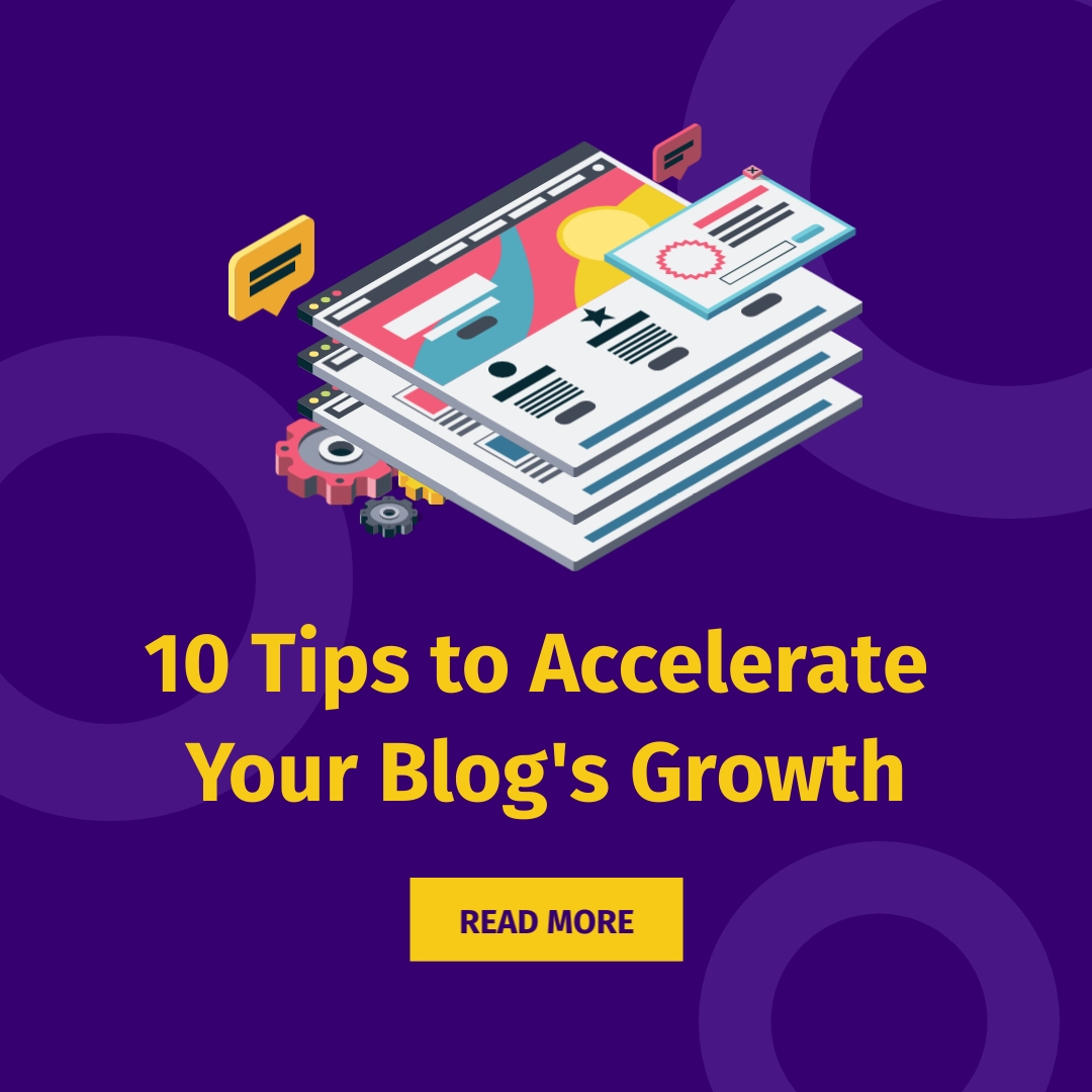 Accelerate Blog Growth Square Template