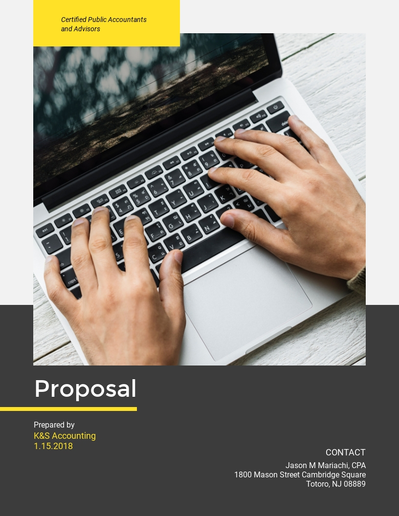 Accounting - Proposal Template