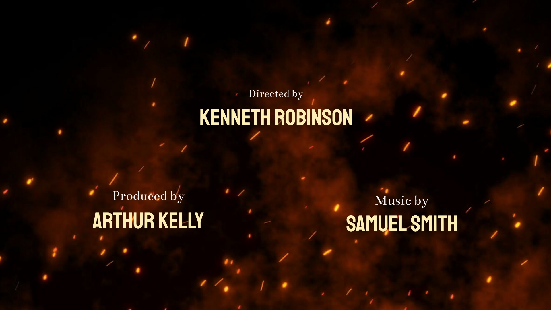Action Movie - Credits Video Template