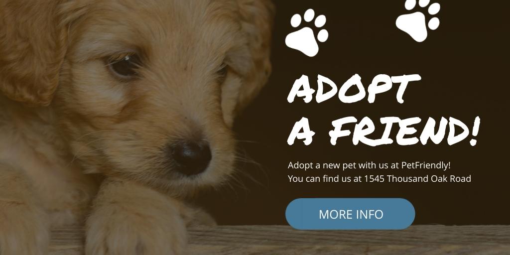 Adopt a Friend Twitter Ad  Template
