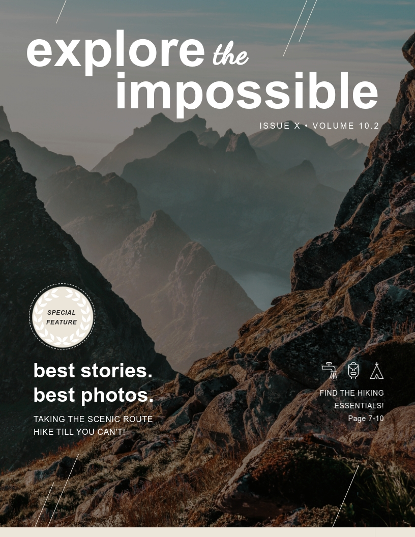 Adventure - Magazine Cover Template