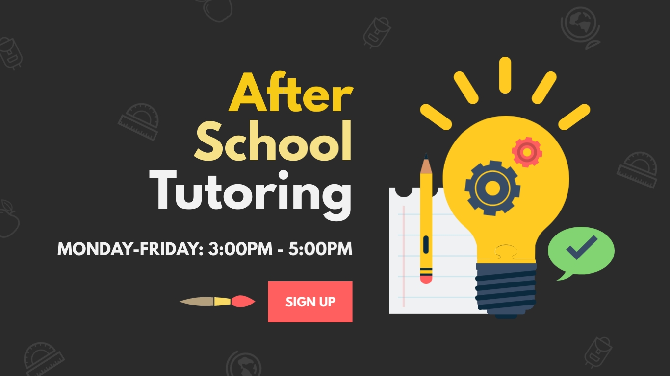 After School Tutoring - Twitter Ad Template
