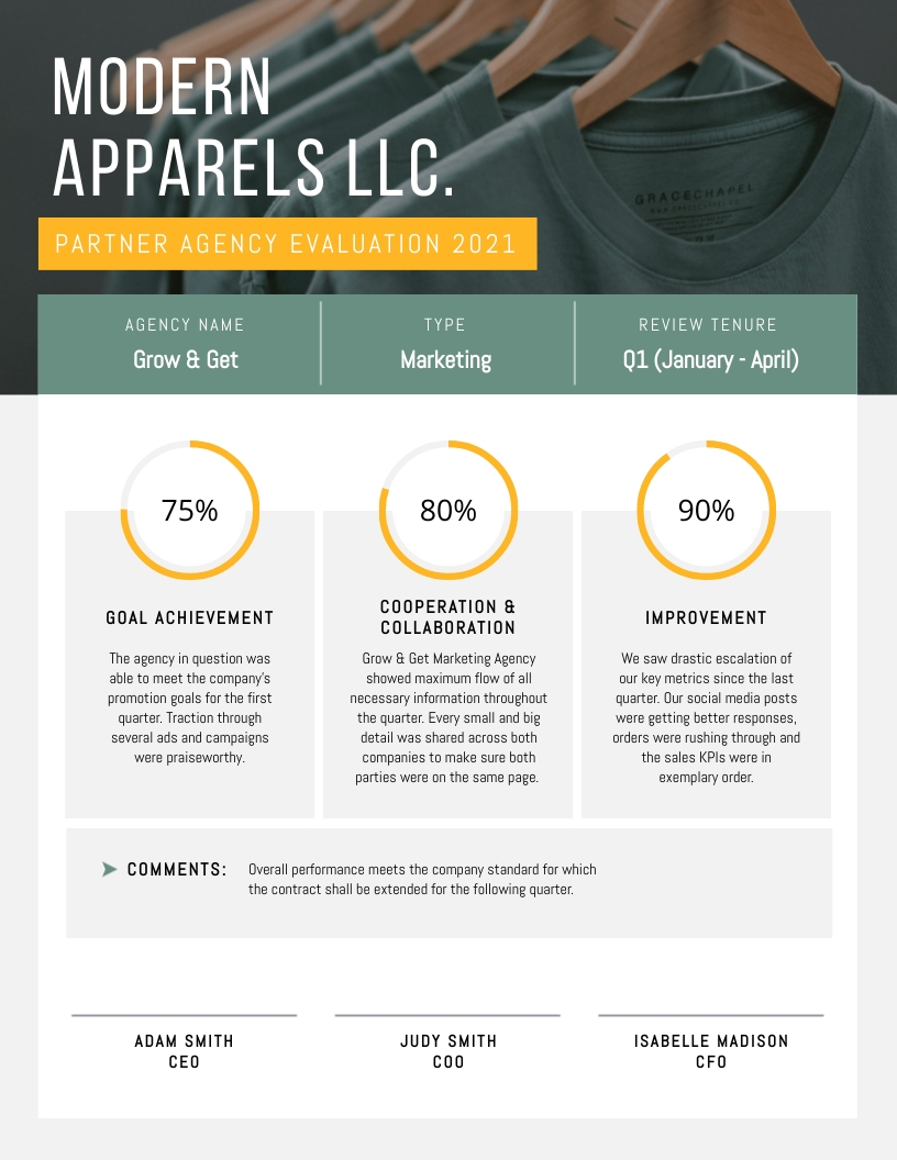Agency - Performance Review Template