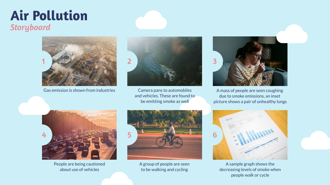 Air Pollution Storyboard Template
