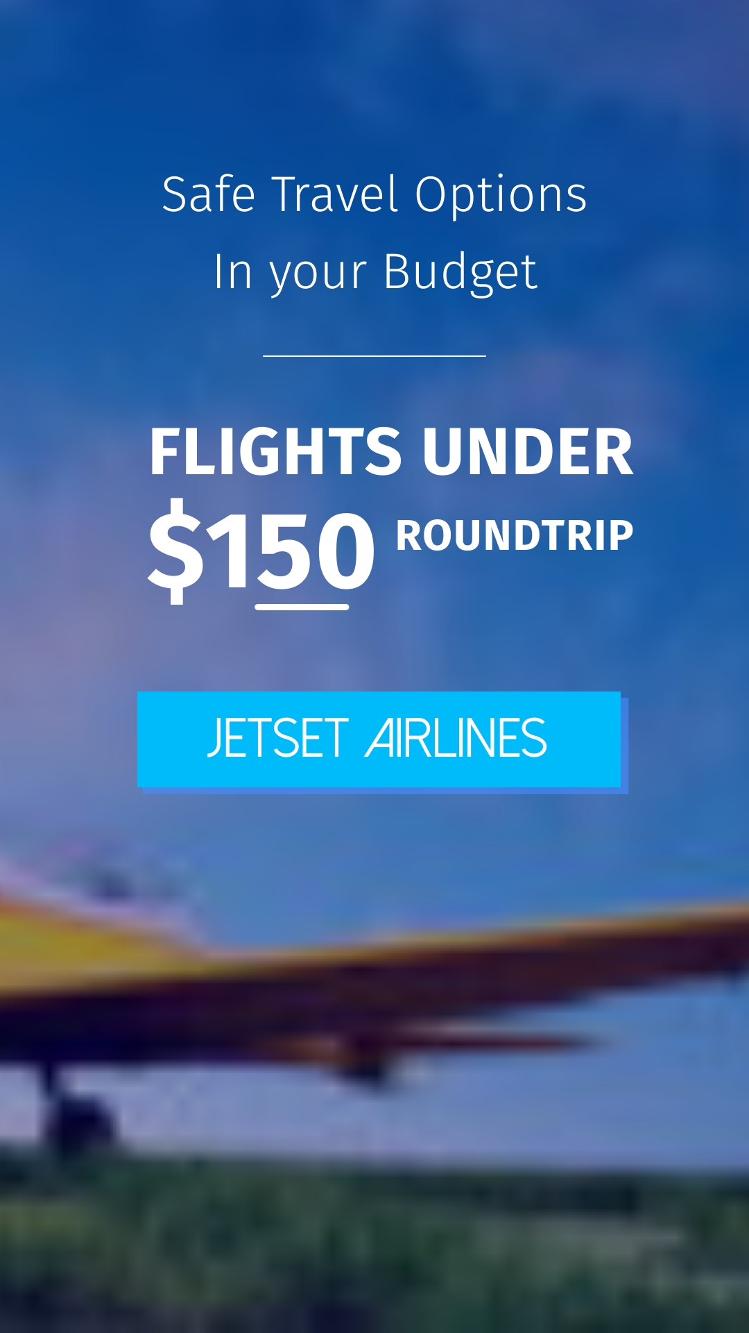Airlines Bite-Sized Ad Vertical Template