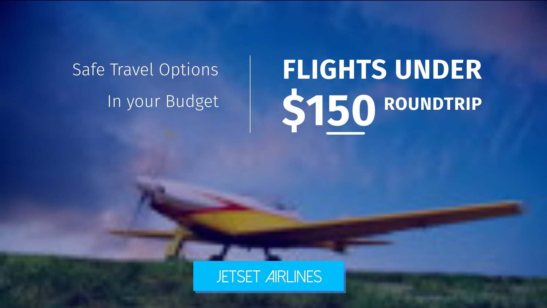 Airlines Bite-Sized Ad Template