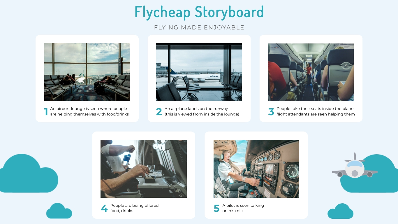 Airlines Storyboard Template