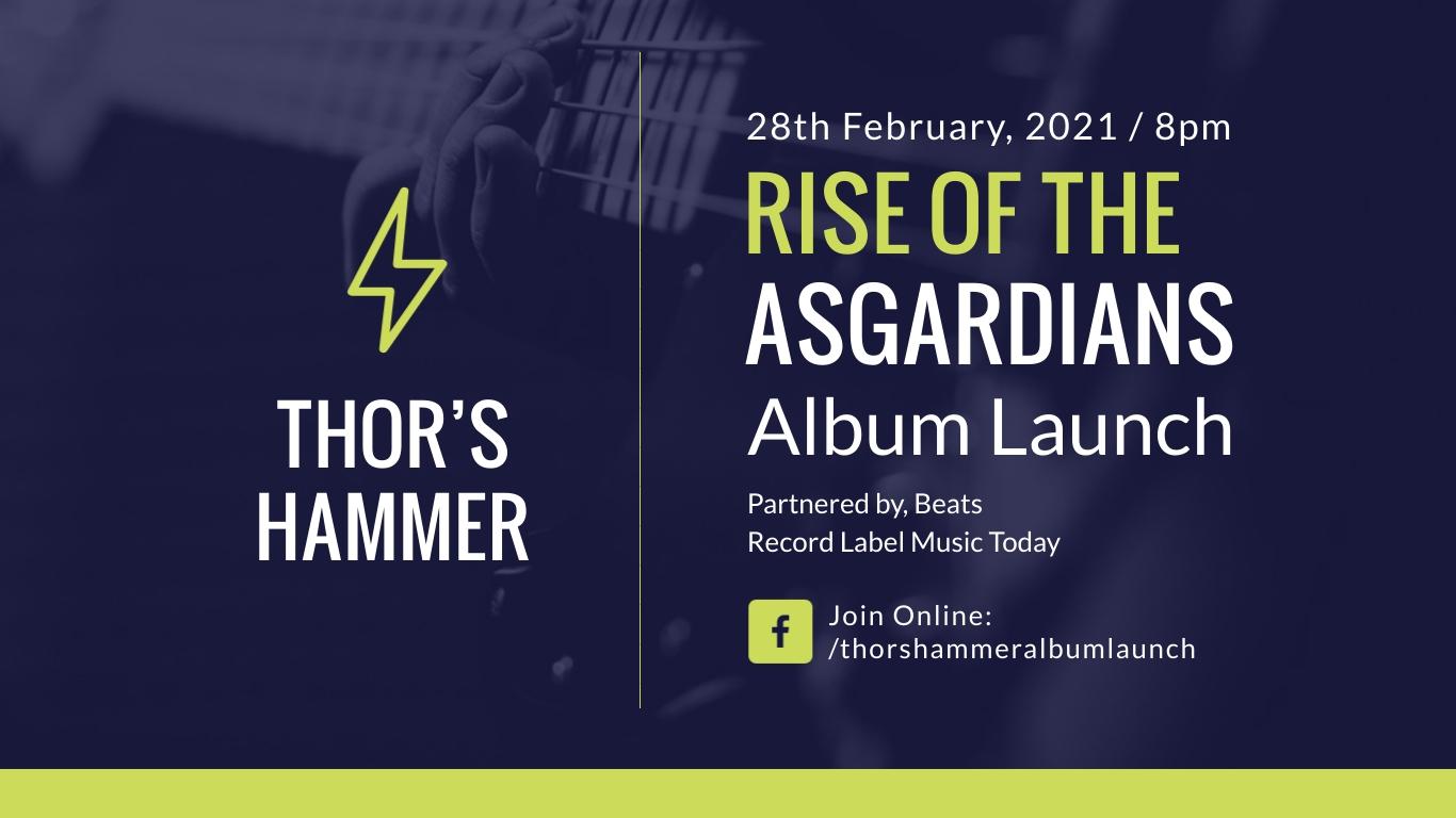 Album Launch Facebook Event Cover Template