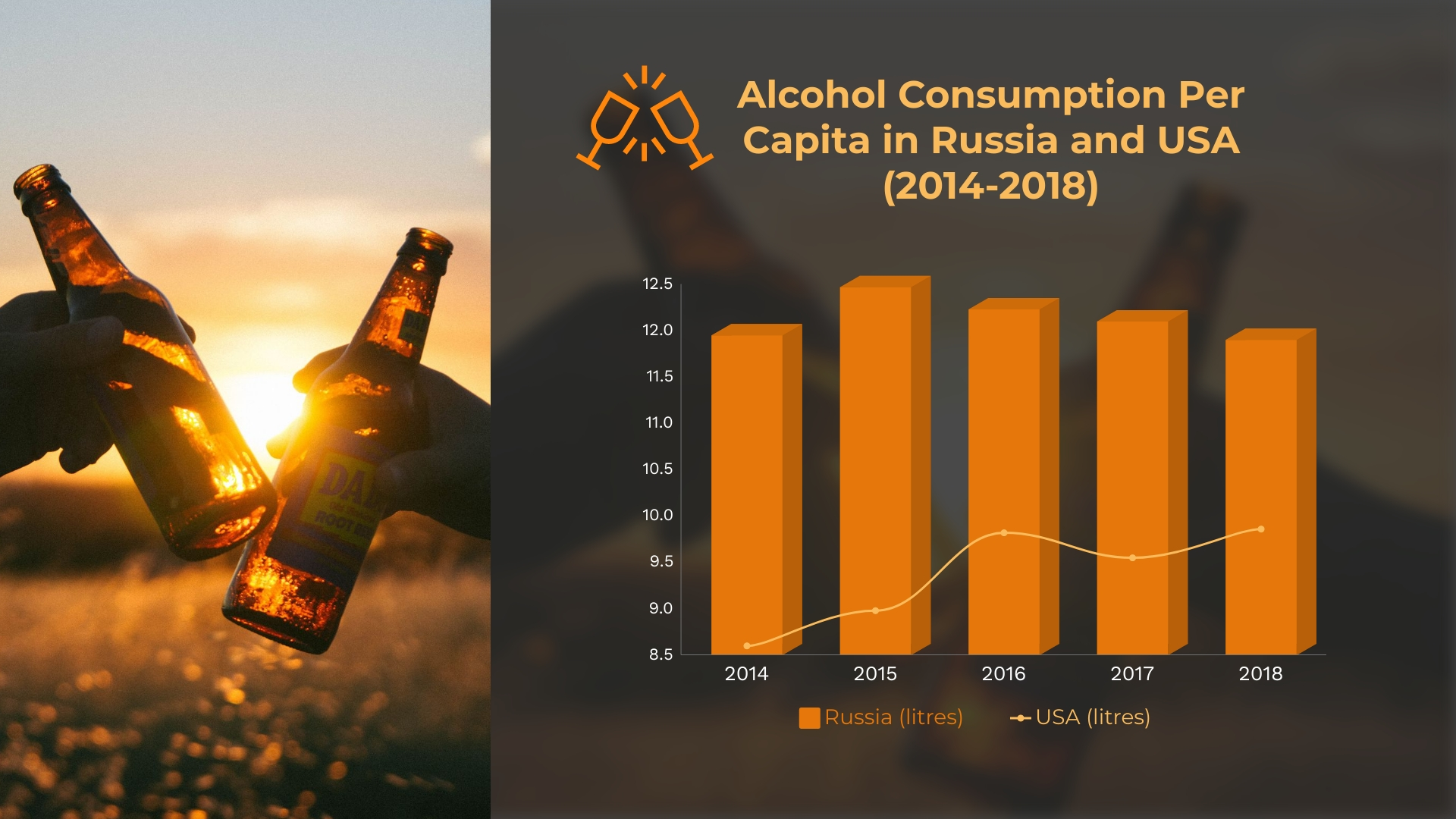 Alcohol Consumption Dual Chart Template
