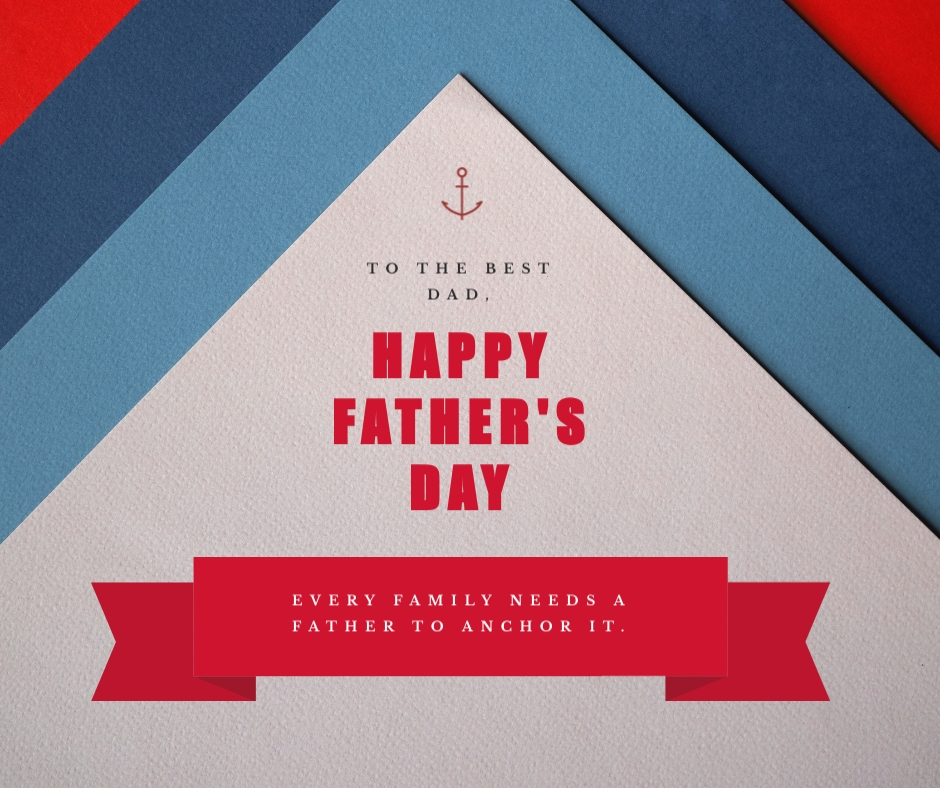 Anchor Fathers Day Facebook Post Template