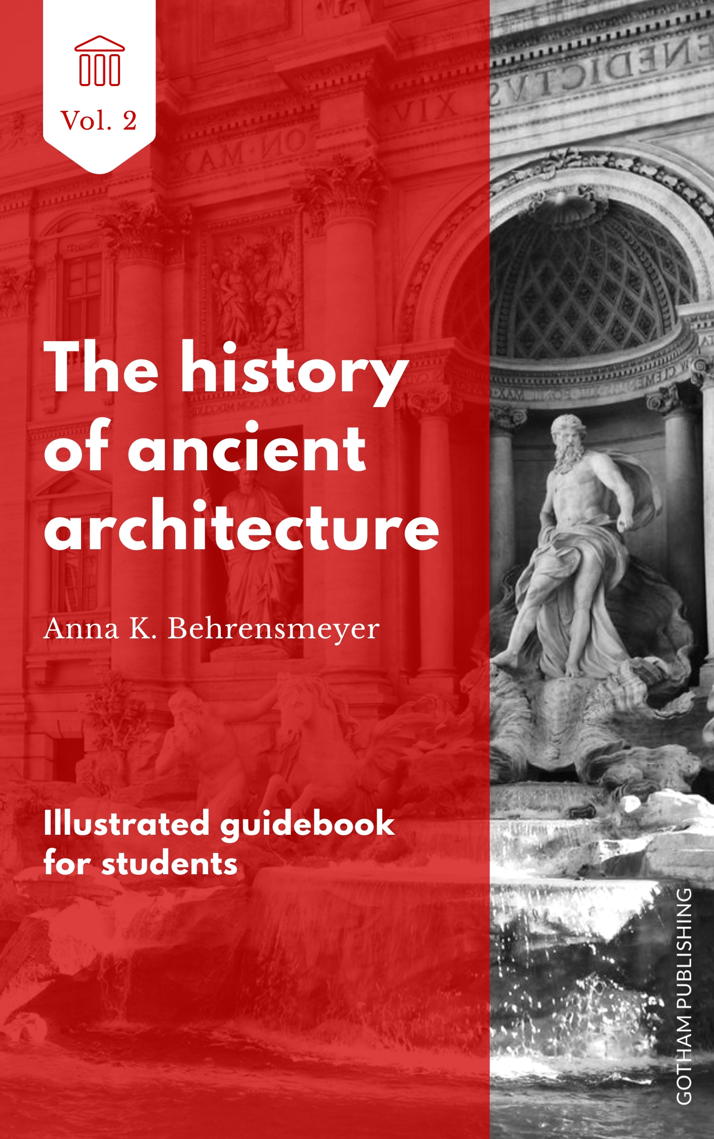 Ancient Architecture - Book Cover  Template