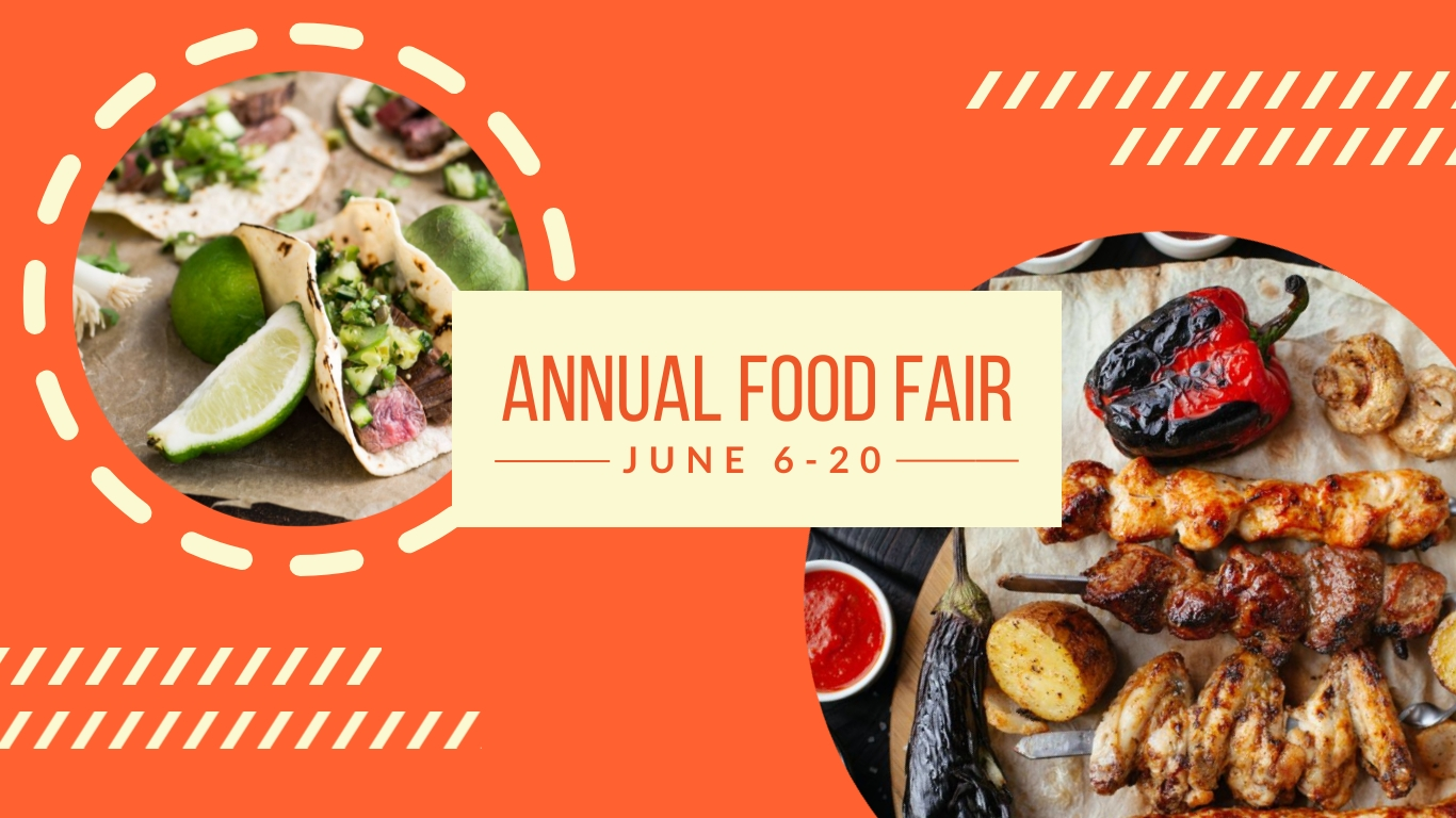 Annual Food Fair - Twitter Ad Template