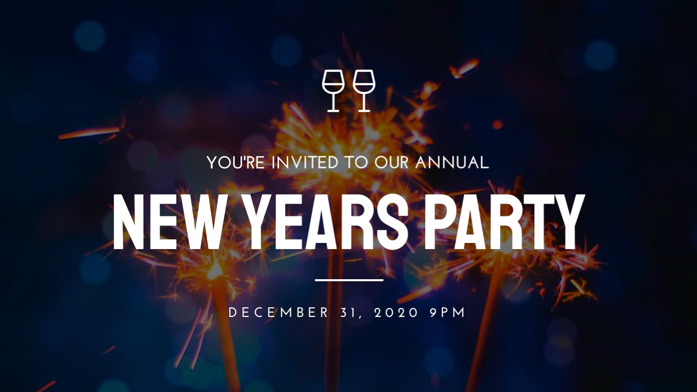 New Year's Party - Twitter Ad Template