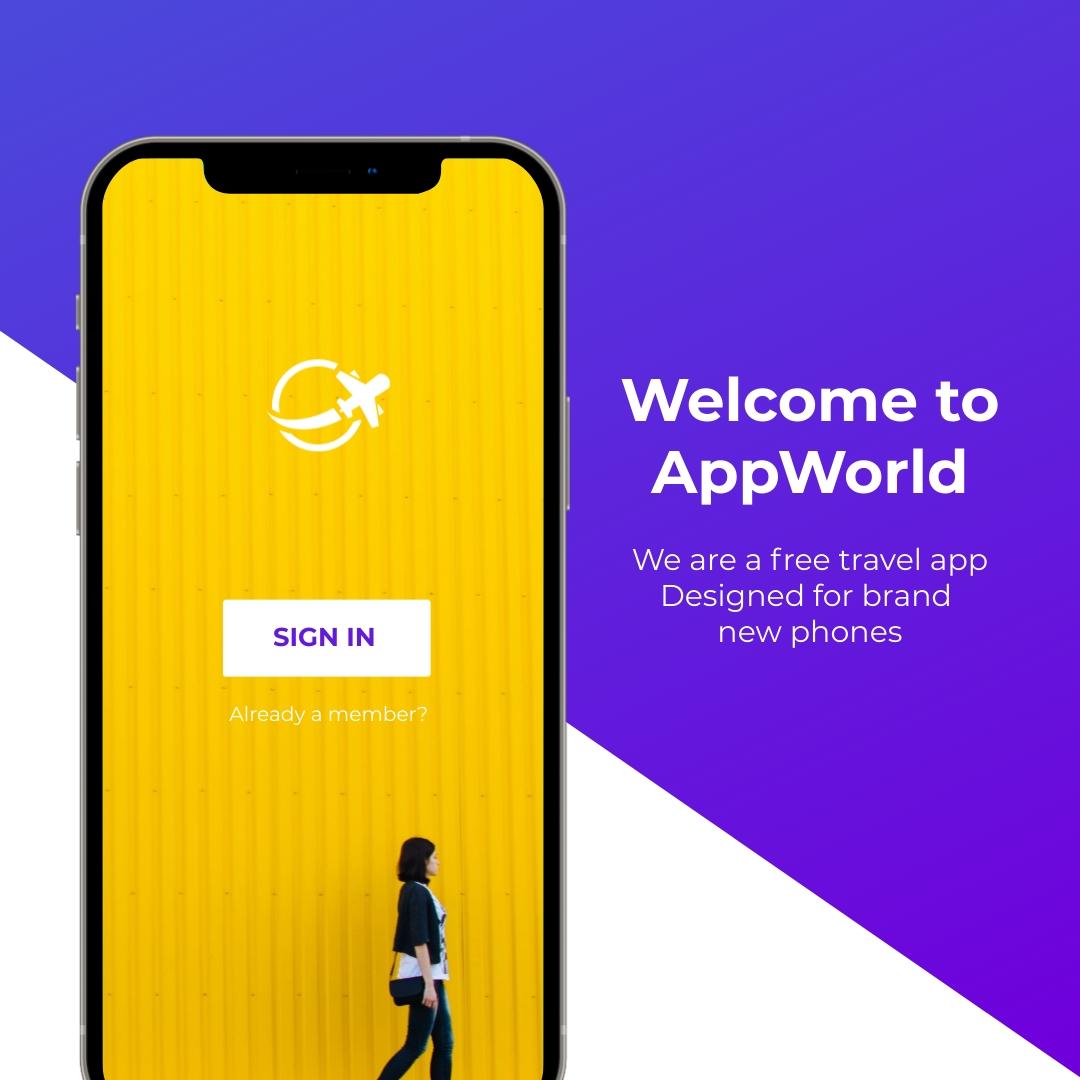 App Mockup Square Template