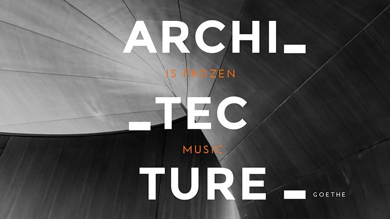 Architecture Quote Wallpaper Template