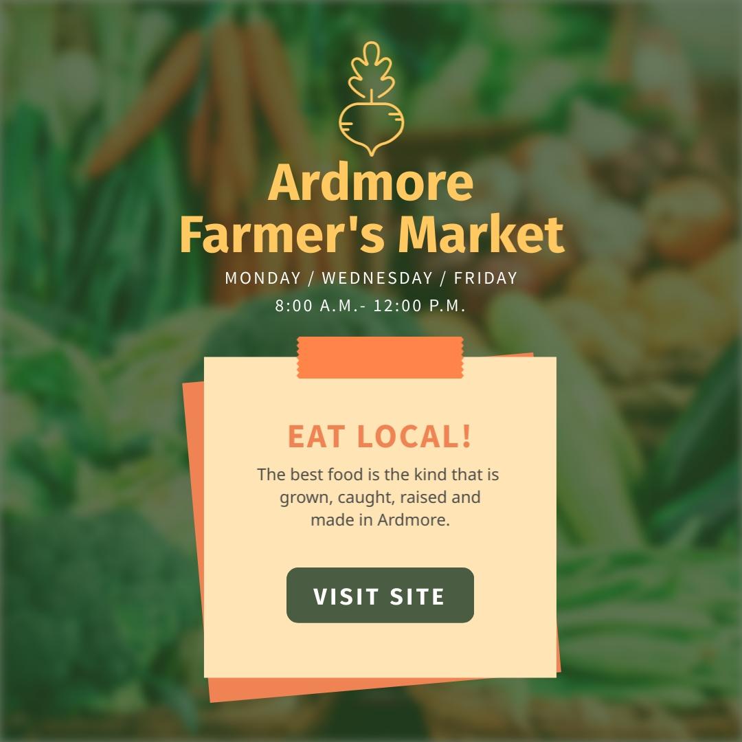 Ardmore Farmers Market - Instagram Post Template